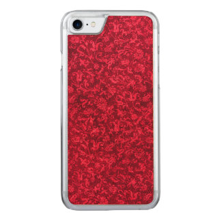 Vintage Floral Ruby Cranberry Red Flowers Carved iPhone 7 Case