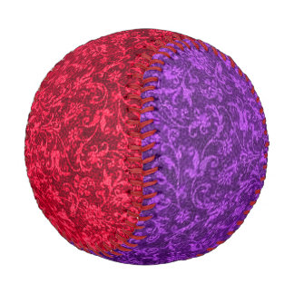 Vintage Floral Ruby Red and Purple Baseball