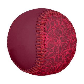 Vintage Floral Ruby Red Baseball