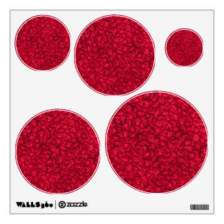 Vintage Floral Ruby Red Flowers Wall Sticker