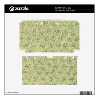 Vintage Floral Sage Green Skin For The 3DS