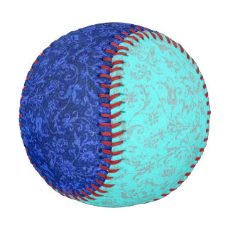 Vintage Floral Sapphire Blue and Turquoise Baseball