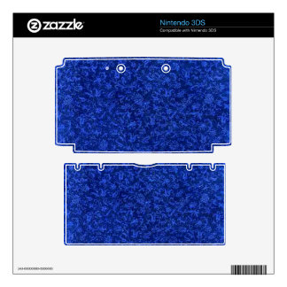 Vintage Floral Sapphire Blue Flowers Skin For The 3DS