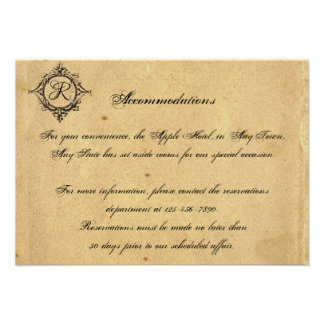 Vintage Floral Scroll Banner Wedding Insert Personalized Invitations