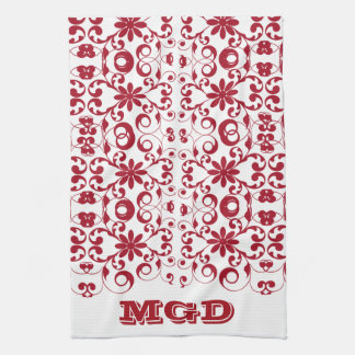 Vintage floral shabby and chic pattern kitchen towel