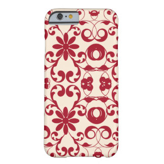 Vintage floral shabby and chic red motif barely there iPhone 6 case
