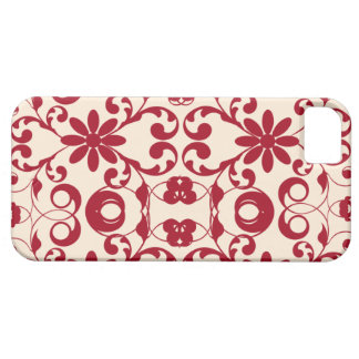 Vintage floral shabby and chic red motif iPhone 5 covers