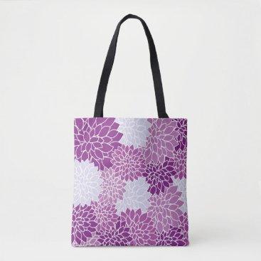 Beach Themed Vintage Floral Shoulder Tote Bag