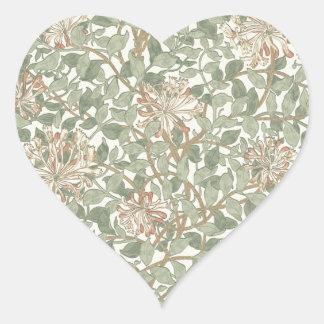Vintage Floral Soft Girly Heart Sticker