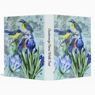 Vintage Floral Songbirds Apparel and Gifts Binder