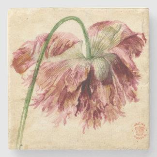 Vintage Floral Stone Coaster