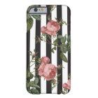 Vintage Floral Striped iPhone Case