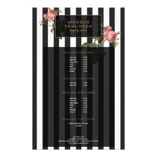 Vintage Floral Striped Salon Flyer