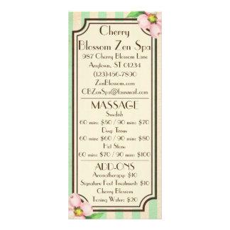Vintage Floral & Stripes Menu Cards