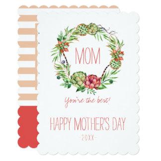 Vintage Floral  Succlent | Mother's Day Card