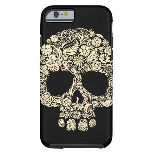 Vintage Floral Sugar Skull Apple iPhone 6 Case Phone Case