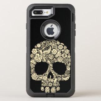 Vintage Floral Sugar Skull OtterBox Defender iPhone 7 Plus Case