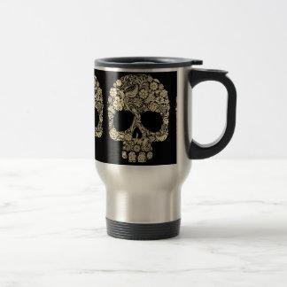 Vintage Floral Sugar Skull Travel Mug