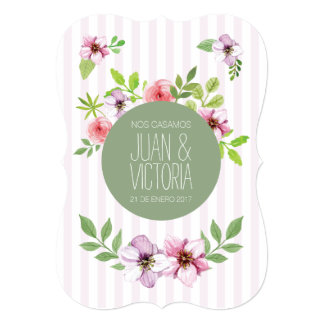 Vintage Floral summer in Spanish by Plaited Card