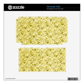 Vintage Floral Sunflower Yellow Skin For The 3DS
