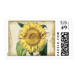 Vintage Floral Sunflowers - Autumn case Wedding Postage