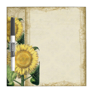 Vintage Floral Sunflowers - Autumn Fall Decor Dry-Erase Board