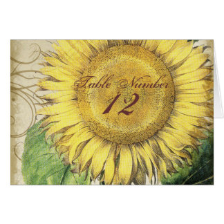 Vintage Floral Sunflowers - Autumn Fall Wedding Stationery Note Card
