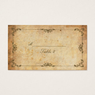 Vintage Floral Swirl Table Place Cards