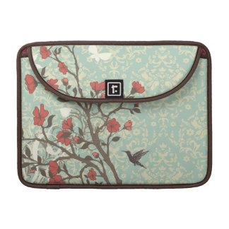 Vintage floral swirls damask macbook pro sleeve