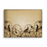 Vintage Floral Swirls Envelope