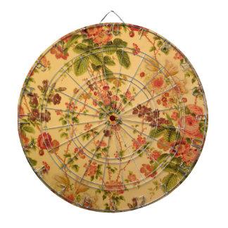 Vintage floral tabla dardos
