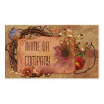 Vintage Floral Tag Business Cards