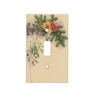 Vintage floral cubiertas para interruptor