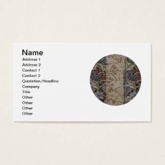 Vintage Floral Tapestry Antique Fabric Pattern Business Card
