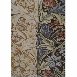 Vintage Floral Tapestry Antique Fabric Pattern Cutout
