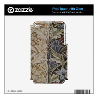Vintage Floral Tapestry Antique Fabric Pattern Decal For iPod Touch 4G