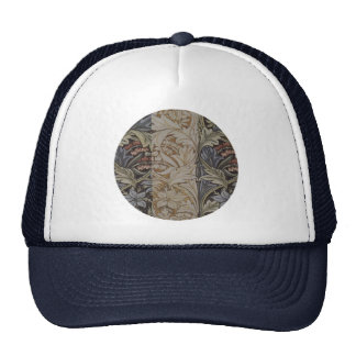 Vintage Floral Tapestry Antique Fabric Pattern Trucker Hats