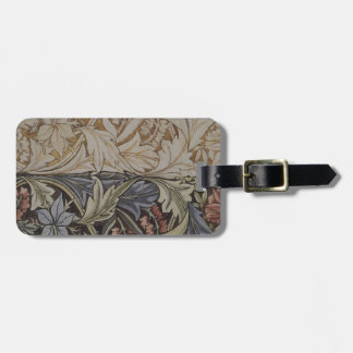 Vintage Floral Tapestry Antique Fabric Pattern Luggage Tag