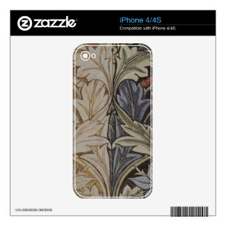 Vintage Floral Tapestry Antique Fabric Pattern Skin For The iPhone 4S