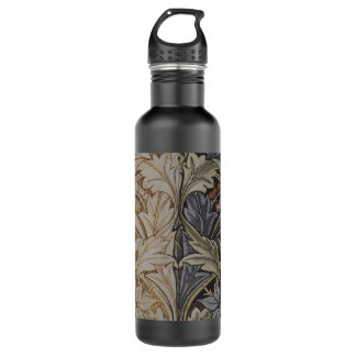 Vintage Floral Tapestry Antique Fabric Pattern Water Bottle