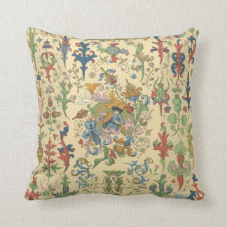 Vintage Floral Tapestry Design Throw Pillow