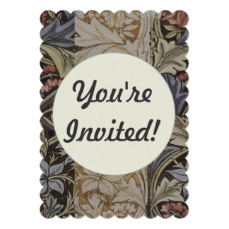 Vintage Floral Tapestry Fabric Botanical Pattern 5x7 Paper Invitation Card