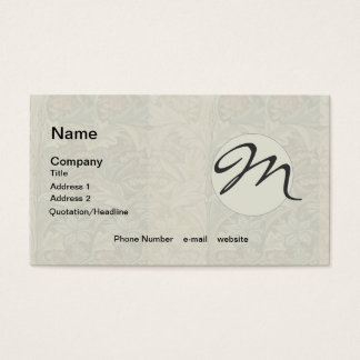 Vintage Floral Tapestry Fabric Botanical Pattern Business Card