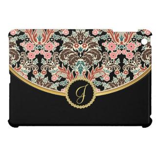 Vintage Floral Tapestry Pattern Monogram iPad Mini Case