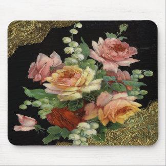 Vintage floral tapete de ratón