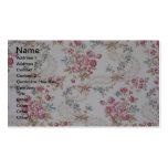 Vintage floral tarjetas de visita