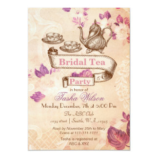 tea party invitations,  tea party announcements  invites, Party invitations
