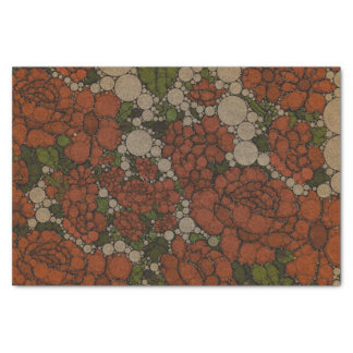 """Vintage Floral Texture Abstract 10"""" X 15"""" Tissue Paper"""