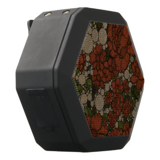 Vintage Floral Texture Abstract Black Bluetooth Speaker