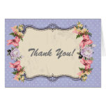 vintage floral thank you card